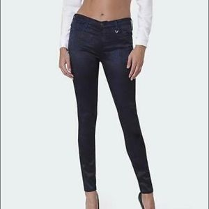 TRUE RELIGION Joan Smalls satin skinny jeans